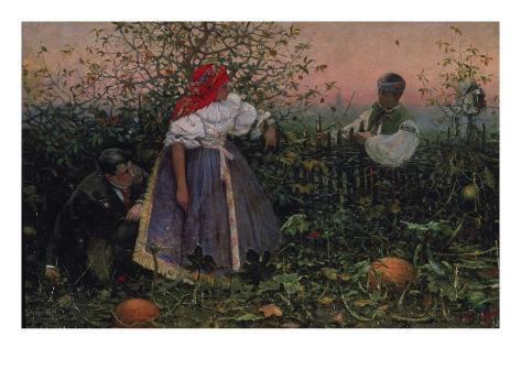 The Disturbed Tryst, 1888 Giclee Print