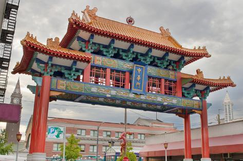 Chinatown Gate in Seattle Washington Photographic Print