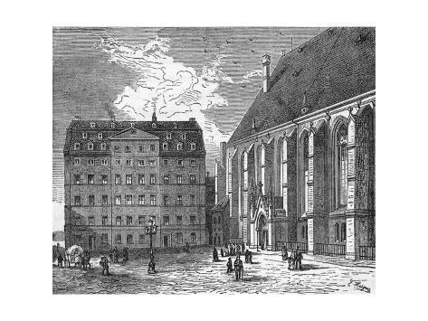 JS Bach, Leipzig House Stampa giclée