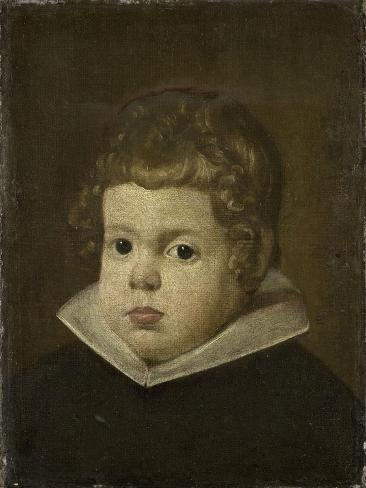 Portrait of a Boy About 3 Years Old, Possibly Balthasar Carlos, Son of the Spanish King Philip IV Art Print