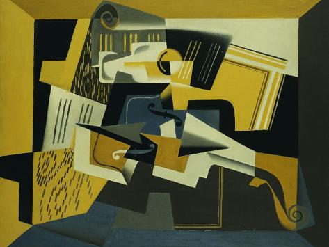 A Violin and Glass, 1918 Giclee Print