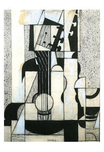 Still Life with Guitar Art Print