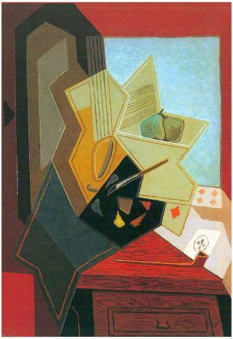 Juan Gris The Window of the Painter Art Print Poster Poster