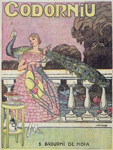 Poster Advertising Codorniu Champagne, 1924 Giclee Print