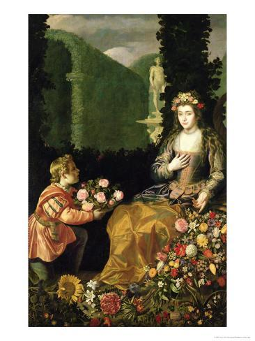 Offering to Flora, 1627 Giclee Print