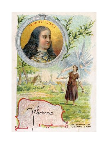 Juana de Arco Lámina giclée