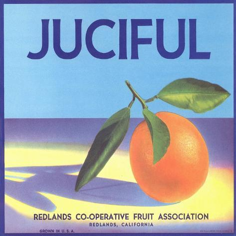 Juciful Orange Crate Label Taidevedos