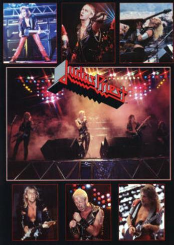 Judas Priest Concert Collage 80s Music Poster Print Poster