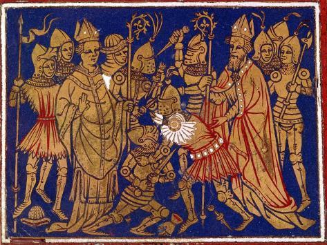 Judiciary Combat, 12th Century Lámina giclée