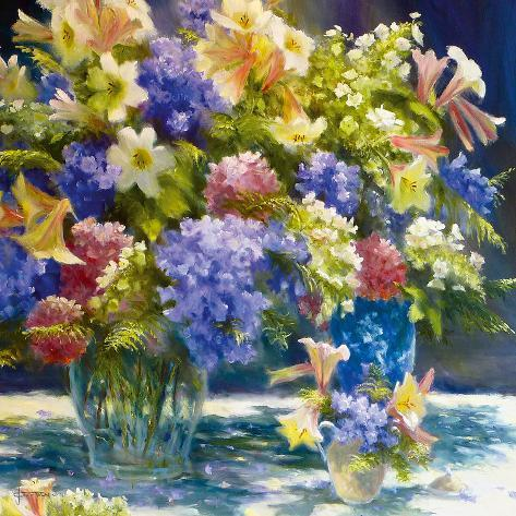 Flowers in Radiance Giclee Print