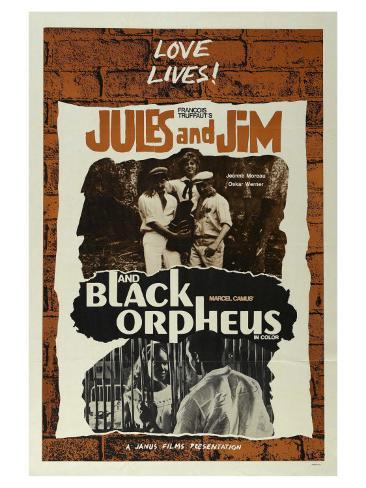 Jules and Jim, 1961 Art Print