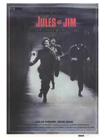 Jules and Jim, Spanish Movie Poster, 1961 Art Print