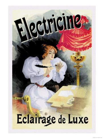 Electricine, Eclairage de Luxe Art Print