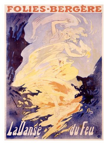 Folies-Bergere, La Danse du Feu Giclee Print