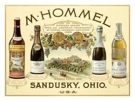 Hommel Champagne Vineyard Giclee Print