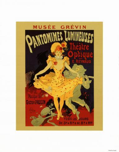 Pantomimes Lumineuses Stampa artistica