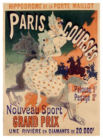Paris Courses Giclee Print