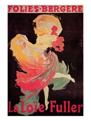 Poster Advertising La Loie Fuller at the Folies Bergere Giclee Print