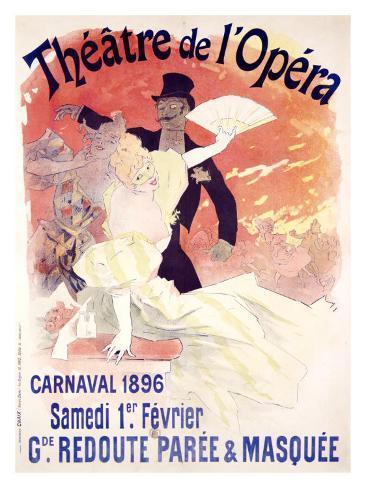 Theatre de l'Opera, Carnaval, 1896 Giclee Print