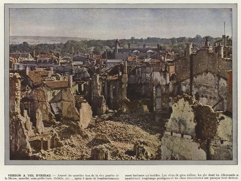 Verdun a Vol D'Oiseau Stampa fotografica
