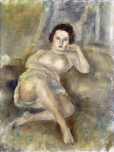Reclining Girl, 1925 Lámina giclée