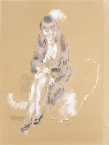 Woman Sitting Lámina giclée