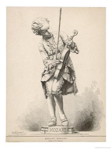 Wolfgang Amadeus Mozart Austrian Musician as a Boy Giclee Print