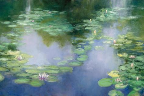 Blue Lily III Art Print