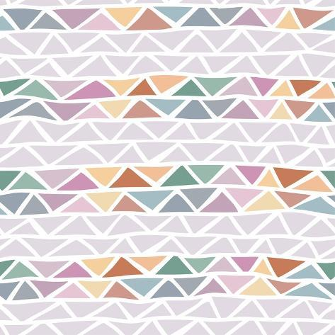 Abstract Triangle Seamless Pattern Art Print