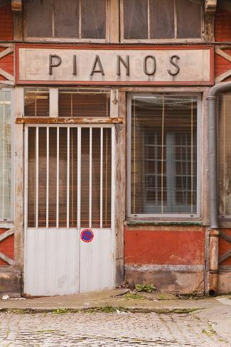 An Old Piano Store in the City of Dijon, Burgundy, France, Europe Photographic Print