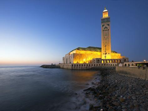 Hassan Ii Mosque in Casablanca, the Third Largest in World after Those at Mecca and Medina, Morocco Photographic Print