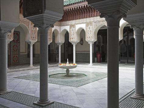 Interior of the Famous Mamounia Hotel in Marrakech Photographic Print