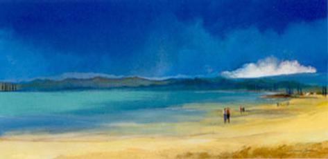 Walking by the Sea I Art Print