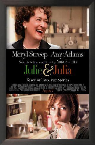 Julie and Julia Impressão artística emoldurada