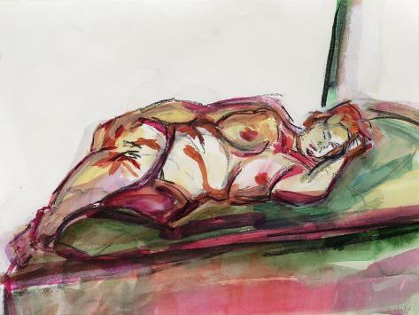Fat Sleeping Nude, 2015 Giclee Print