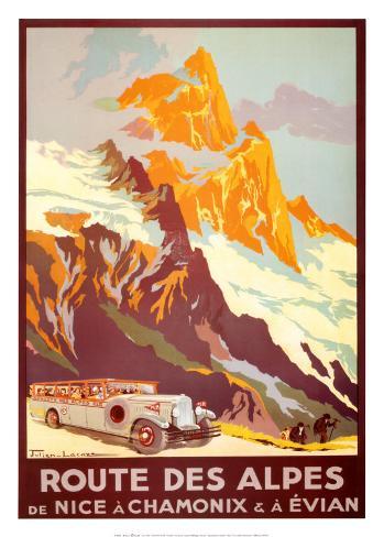 Route Des Alpes Art Print
