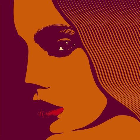 Woman Face, Vector Illustration. Art Print