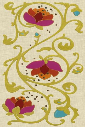 Cloisonne Panel I Art Print