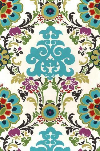 Jewel-tone Damask V Art Print