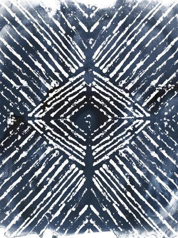 Indigo Ink Motif IV Art Print