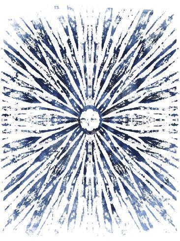 Indigo Ink Motif VIII Art Print