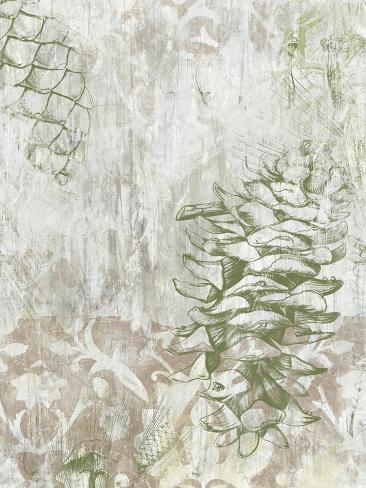 Pinecone Fresco II Art Print
