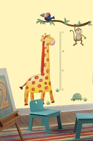 Jungle Adventure Giraffe Peel & Stick Growth Chart Wall Decal Wall Decal