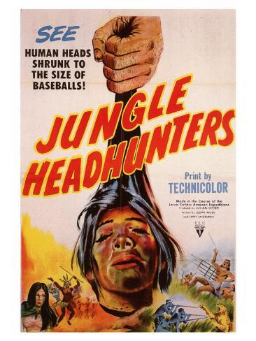Jungle Headhunters, 1951 Art Print