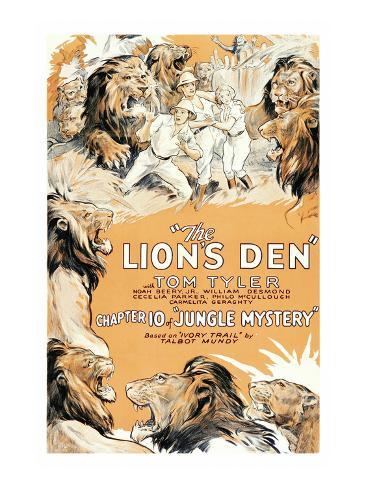 Jungle Mystery - the Lion's Den Premium Giclee Print