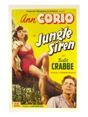 Jungle Siren, Ann Corio, Buster Crabbe, 1942 Photo