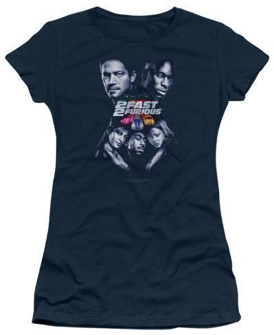 Juniors: 2 Fast 2 Furious - 2 Fast Poster T-Shirt