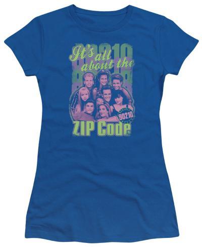 Juniors: 90210-Zip Code Womens T-Shirts