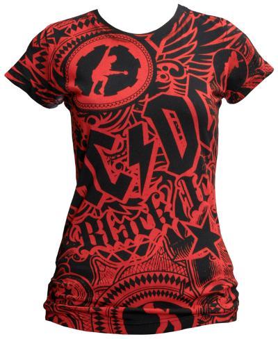 Juniors: AC/DC - Girls Got Rhythm Womens T-Shirts