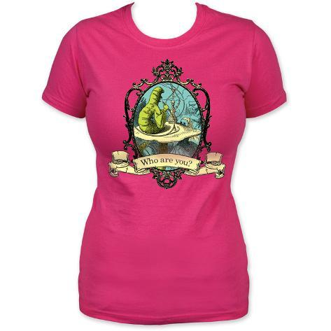 Juniors alice in wonderland who are you t shirts su for Attack of the 50 foot woman t shirt